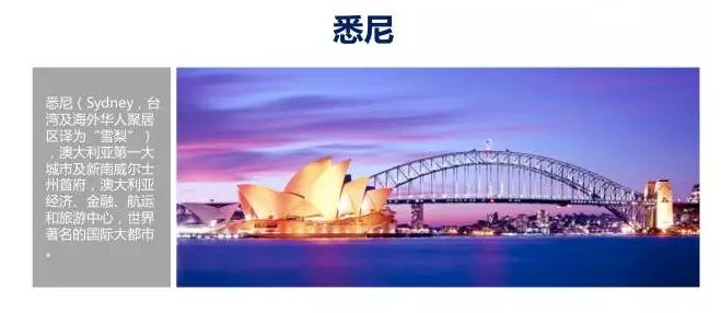 悉尼是澳大利亚经济,金融,航运和旅游中心