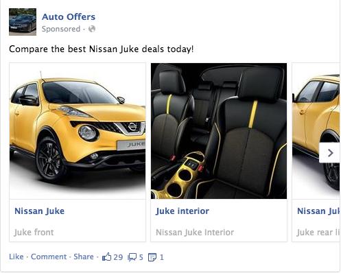 Facebook轮播广告的不同用处