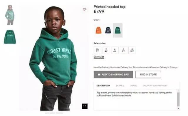 海外fresh | H&M因涉嫌种族歧视下架广告