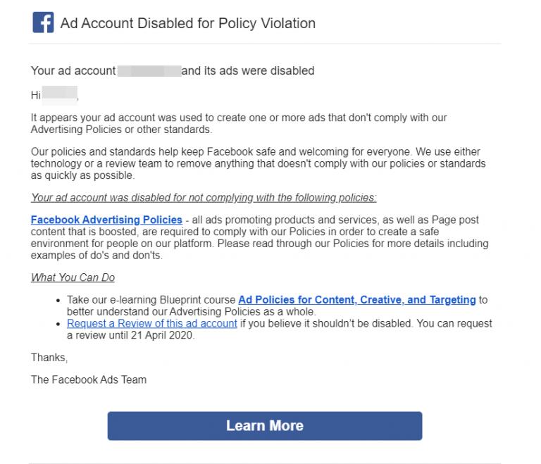 跨境市场人:Facebook广告账户被封,如何快速申诉解禁?
