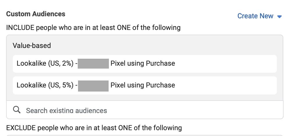 将相似的受众群体添加到您的广告集中