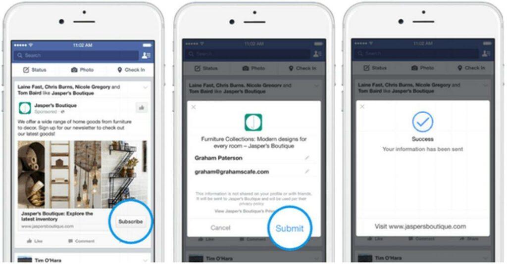 Facebook客户表单广告