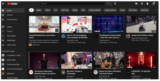 YouTube首页算法